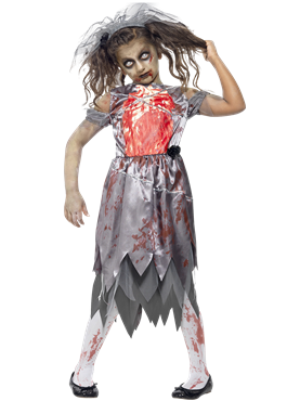 Child Zombie Bride Costume Couples Costume