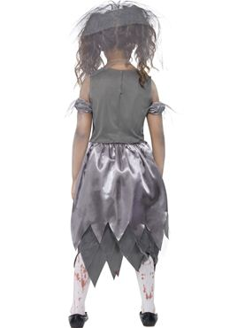 Child Zombie Bride Costume - Side View