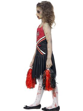 Child Zombie Cheerleader Costume - Back View