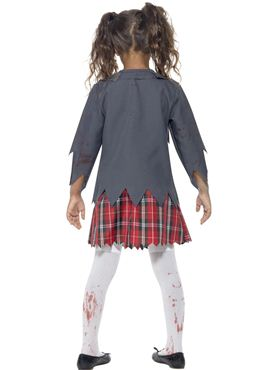 Child Zombie School Girl Costume - Side View
