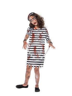 Child Zombie Convict Girl Costume Couples Costume