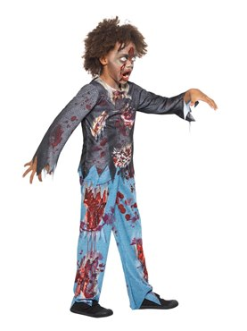 Child Zombie Costume - Back View
