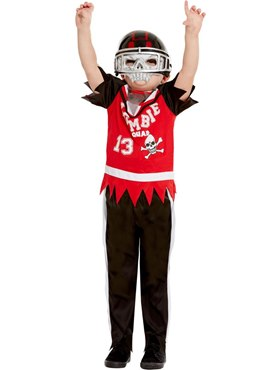 Child Zombie Football Player Costume