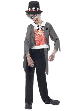 Child Zombie Groom Costume Couples Costume
