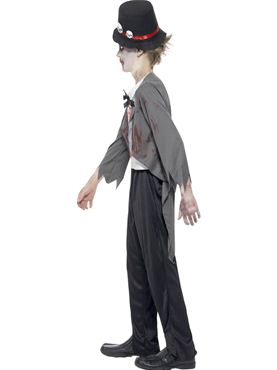 Child Zombie Groom Costume - Back View