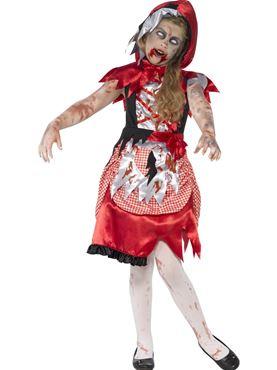 Child Zombie Miss Hood Costume Couples Costume