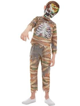 Child Zombie Mummy Costume - Back View
