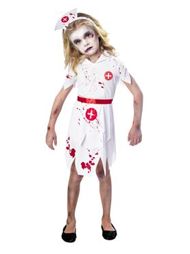 Child Zombie Nurse Costume  sc 1 st  Fancy Dress Ball : childrens nurse costume - Germanpascual.Com