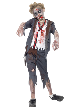 Child Zombie School Boy Costume Couples Costume