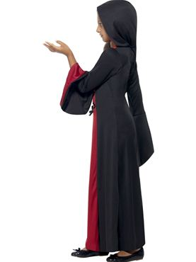 Child Hooded Vamp Costume - Back View