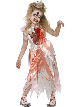 Child Zombie Sleeping Princess Costume