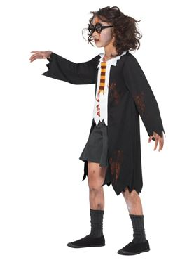 Child Zombie Student Costume - Side View