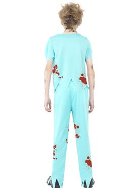 Child Zombie Surgeon Costume - Side View