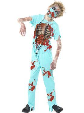 Child Zombie Surgeon Costume