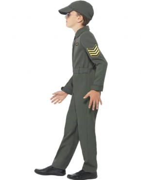 Child Aviator Costume - Back View