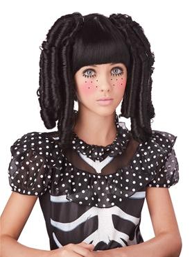 Childrens Black Baby Doll Curls Wig