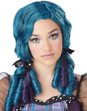 Teen Blue Doll Curls Wig