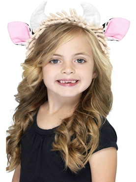 Childrens Cow Ears on Headband