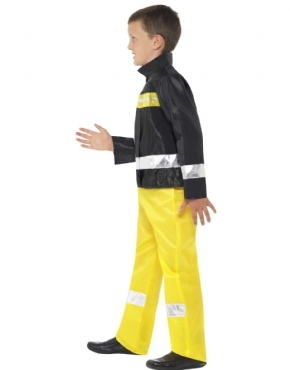 Child Fireman Costume - Back View