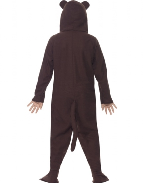 Child Monkey Onesie Costume - Side View