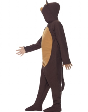 Child Monkey Onesie Costume - Back View
