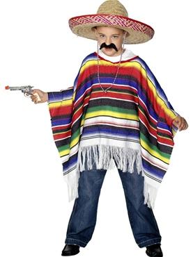 Child Multicoloured Poncho