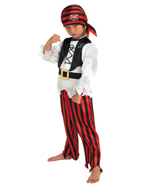 Childrens Raggy Pirate Costume