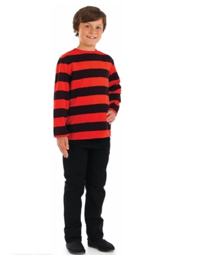 Child Red and Black Striped Shirt