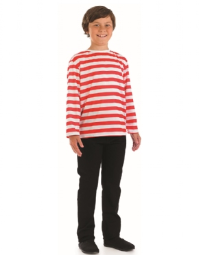 Child Red and White Striped Jumper