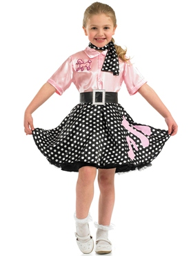 Child 50s Rock n Roll Costume - Back View