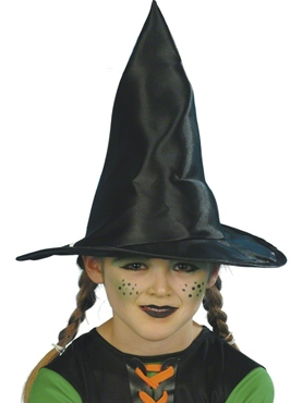 Childrens Witch Hat Black Fabric