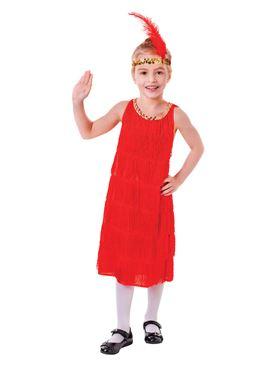Child Red Flapper Dress