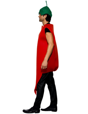 Adult Red Hot Chilli Pepper Costume - Side View