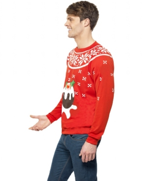 Adult Christmas Pudding Jumper - Back View