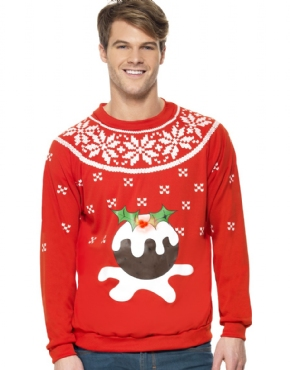 Adult Christmas Pudding Jumper