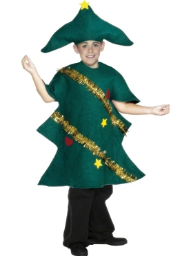Child Christmas Tree Childrens Costume - Back View
