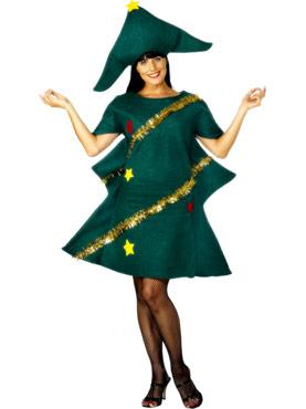 Adult Christmas Tree Costume - Back View