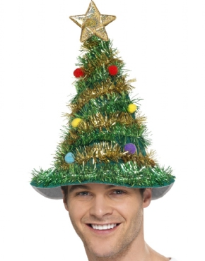 Christmas Tree Hat - Back View