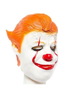 Chunky Clown Full Head Mask - Back View