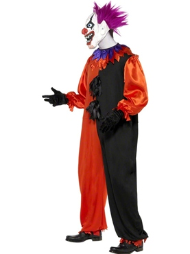 Adult Cirque Sinister Bo Bo the Clown Costume - Side View