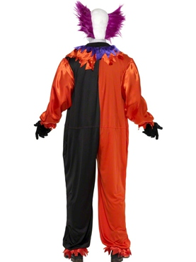 Adult Cirque Sinister Bo Bo the Clown Costume - Back View