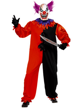 Adult Cirque Sinister Bo Bo the Clown Costume