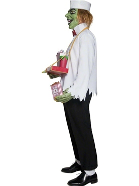 Adult Cirque Sinister Depraved Popcorn Man Costume - Side View