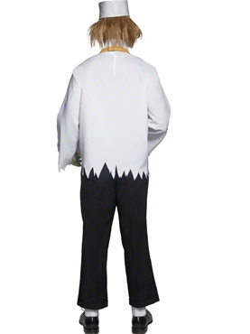 Adult Cirque Sinister Depraved Popcorn Man Costume - Back View