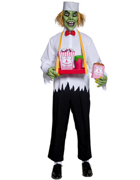 Adult Cirque Sinister Depraved Popcorn Man Costume