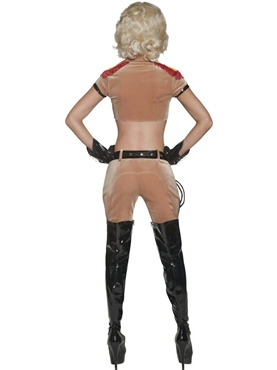 Adult Cirque Sinister Wanton Lion Tamer Costume - Back View