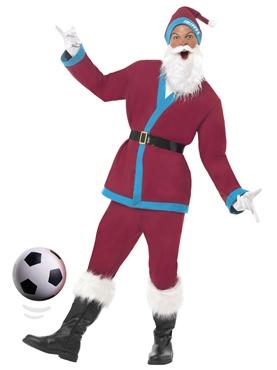 Adult Claret Sport Santa Costume