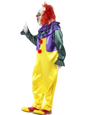 Adult Classic Horror Clown Costume - Back View
