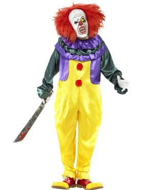 Adult Classic Horror Clown Costume Couples Costume