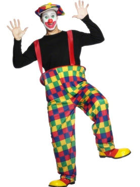 Adult Clown Costume - Back View